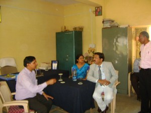 Visit to college by Vice Chancellor Dr.Sudhir Meshram